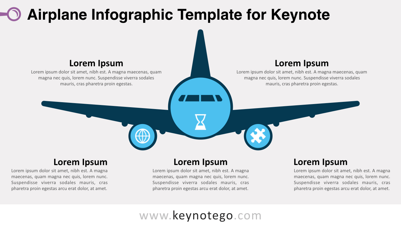 Airplane Infographics Keynote Template
