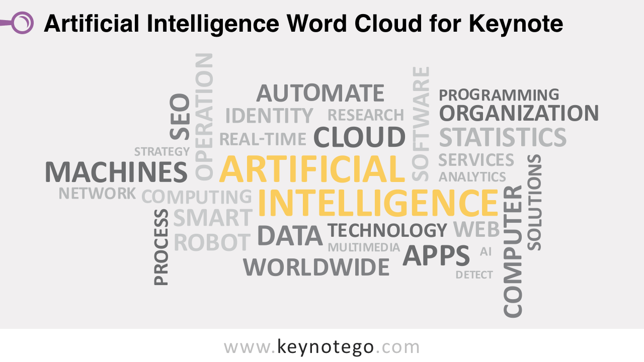 Artificial Intelligence AI Word Cloud Keynote Template