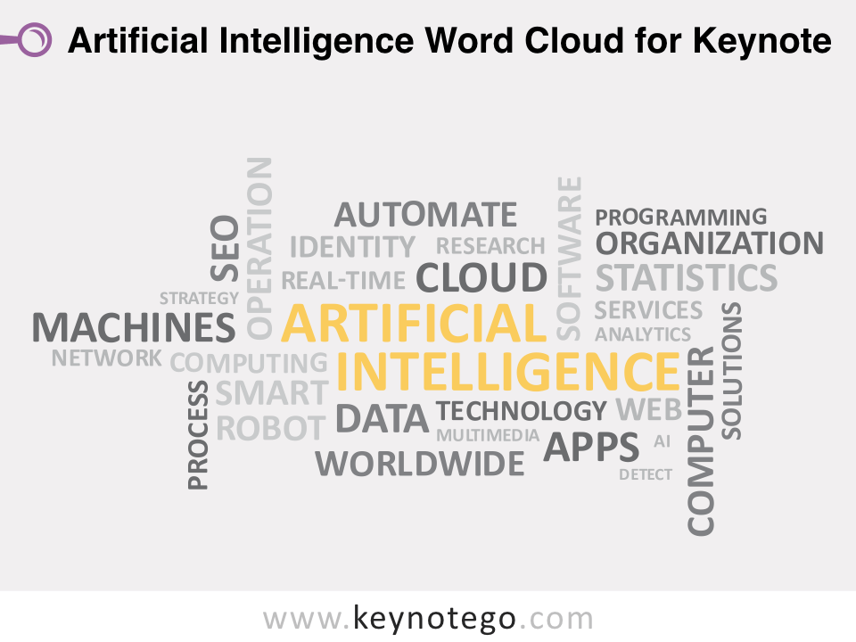 Artificial Intelligence Word Cloud for Keynote