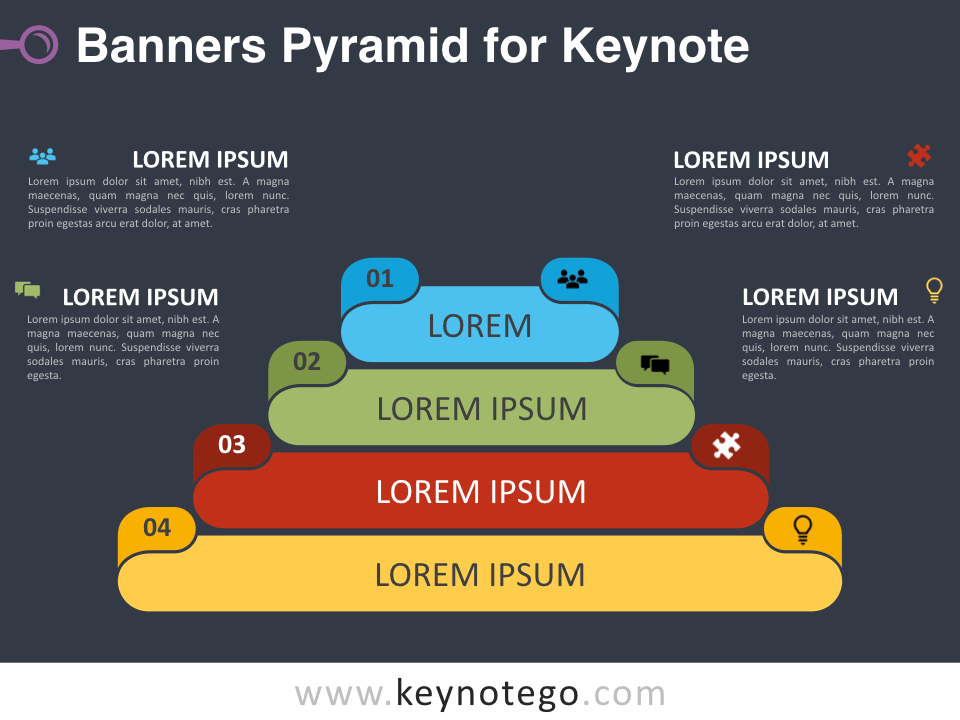 Banners Pyramid for Keynote - Dark Background