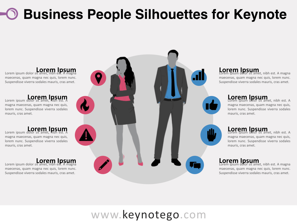 Business People Silhouettes for Keynote