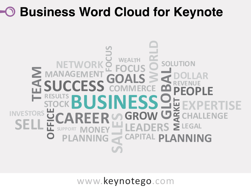 Business Word Cloud for Keynote