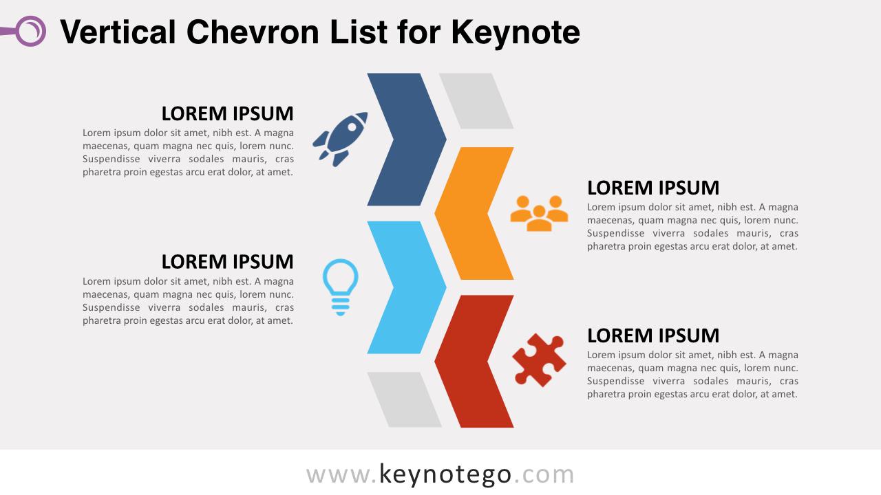 Chevron List Keynote Template