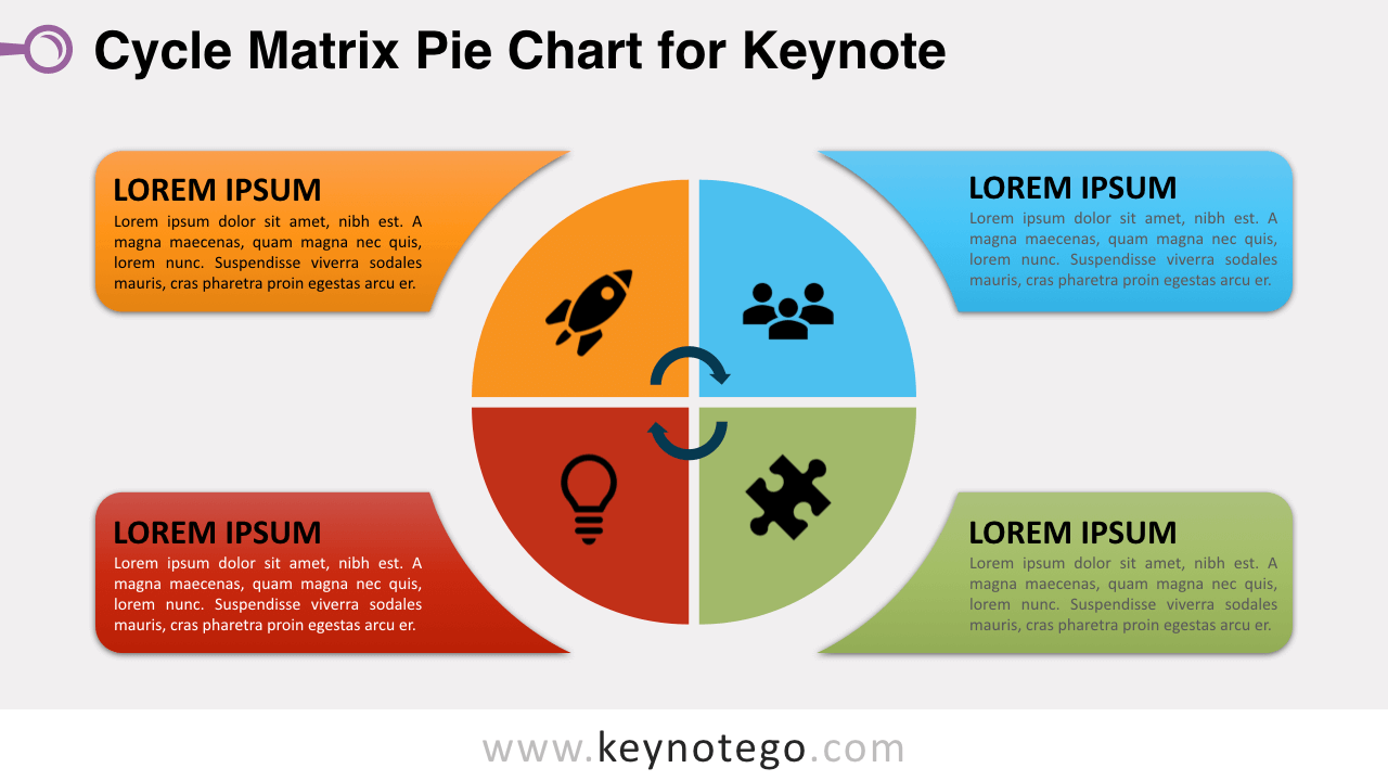 Cycle Matrix Pie Keynote Template