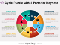 Cycle Puzzle 8 Parts for Keynote