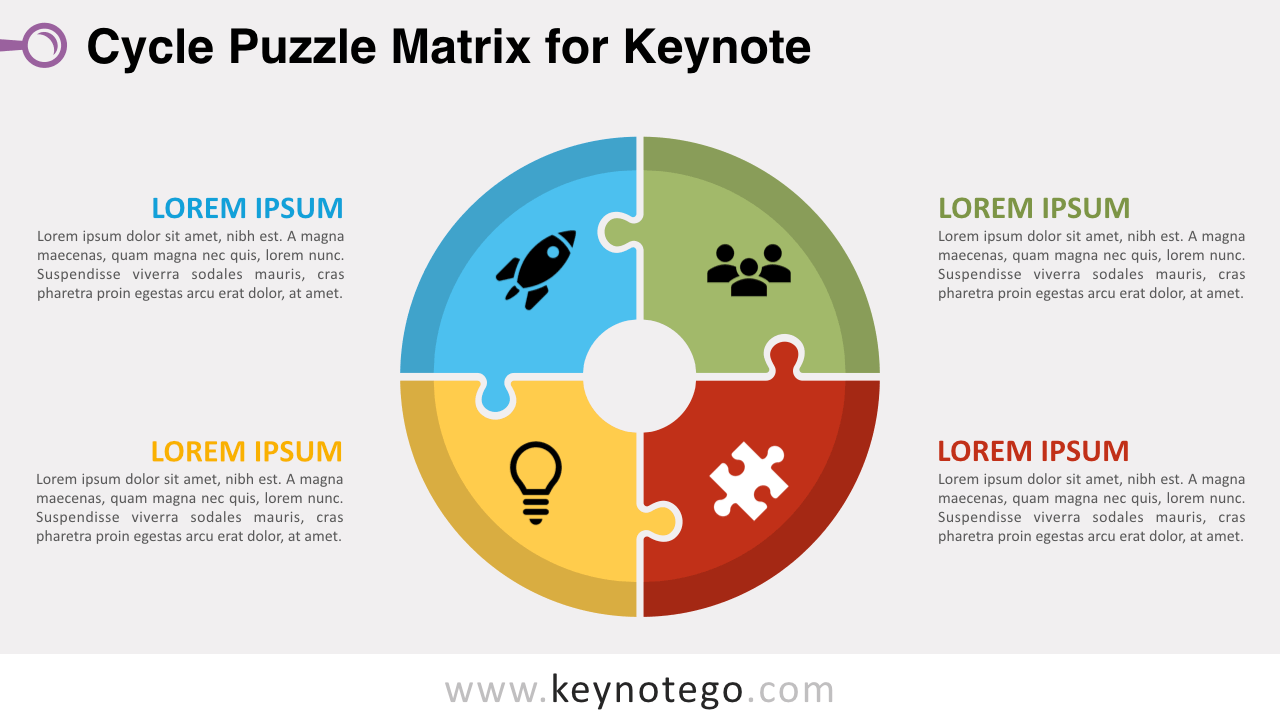 Cycle Puzzle Keynote Template