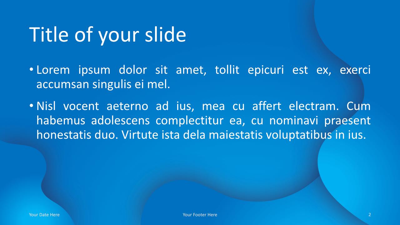 Fluids Free Keynote Template Blue Title Content