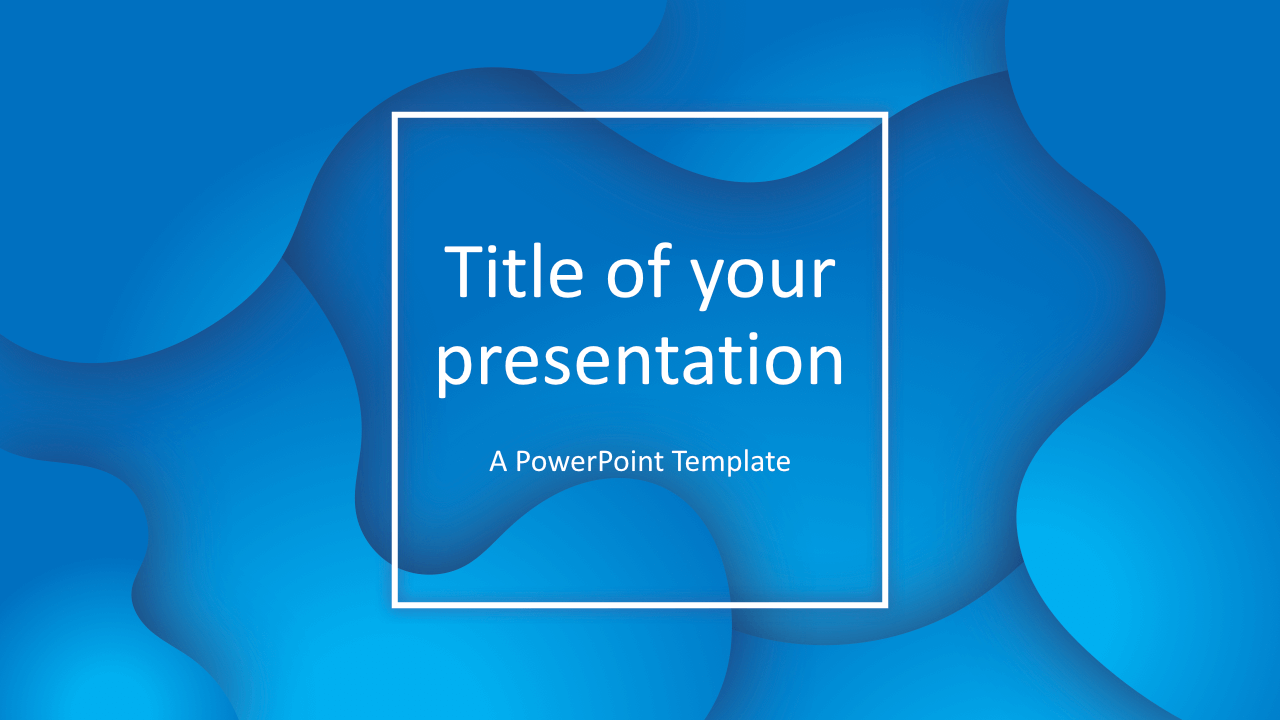 Fluids Free Keynote Template Blue