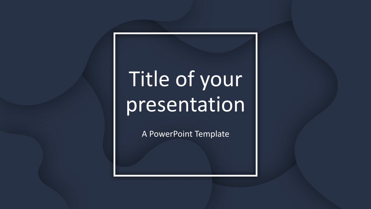 Fluids Free Keynote Template Dark Blue
