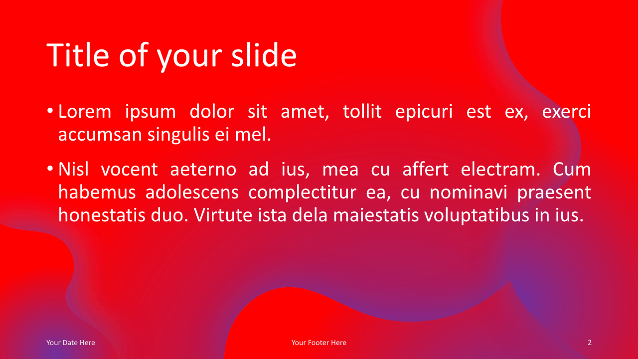 Fluids-Free Keynote Template Pink Purple Title Content