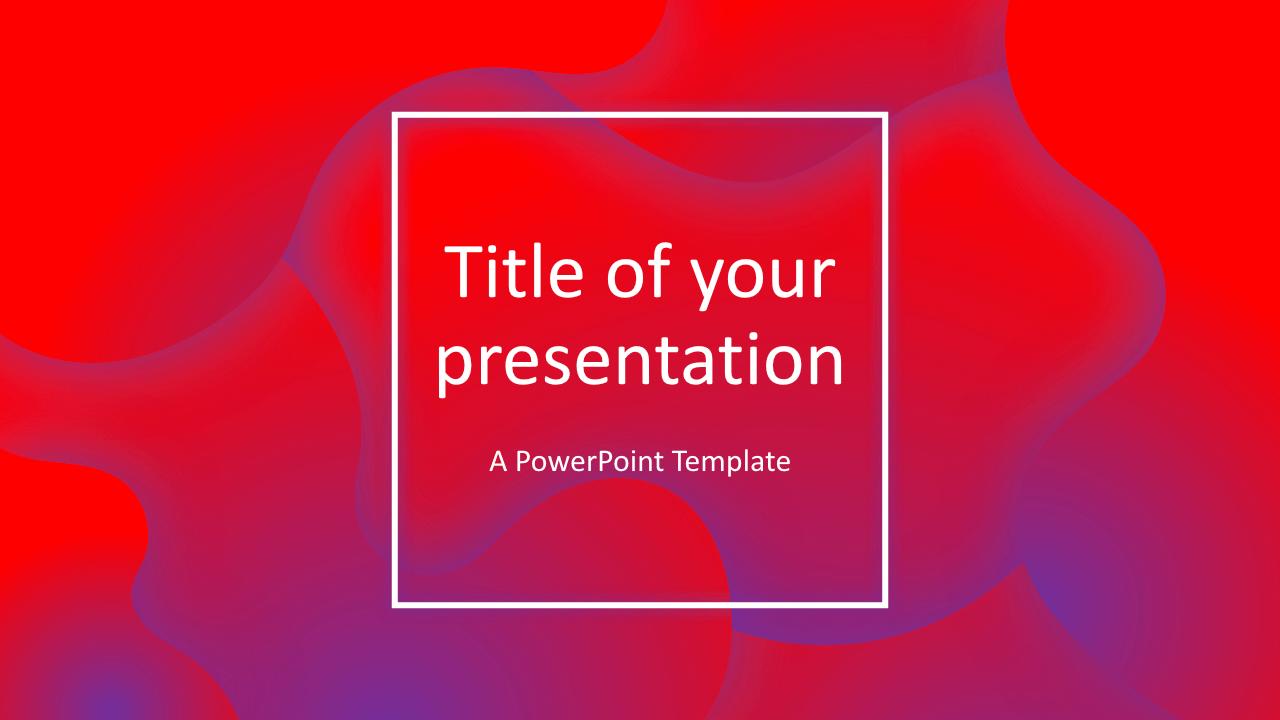 Fluids Free Keynote Template Pink Purple
