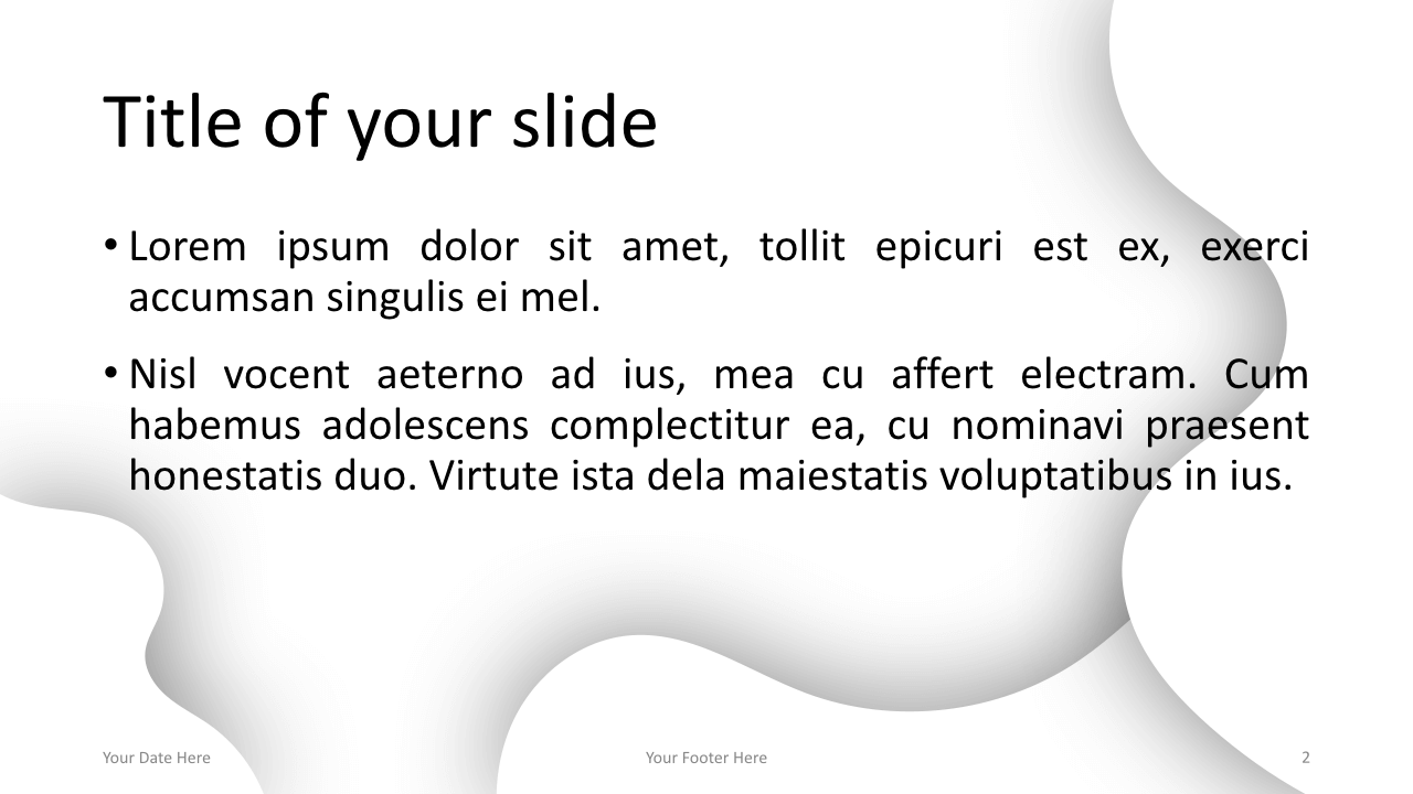 Fluids Free Keynote Template White Title Content