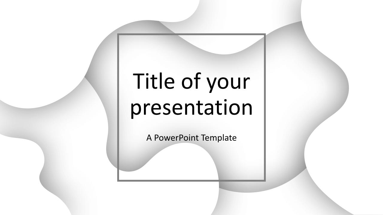 Fluids Free Keynote Template White