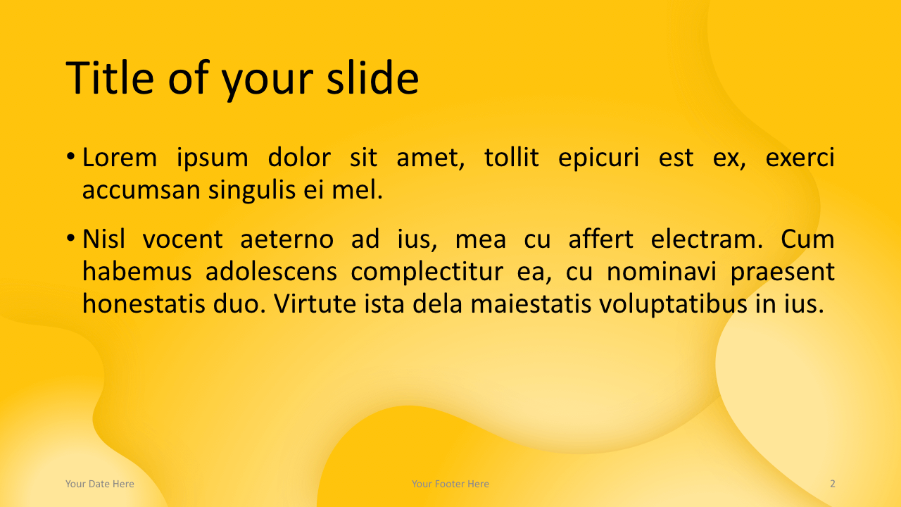 Fluids Free Keynote Template Yellow Title Content