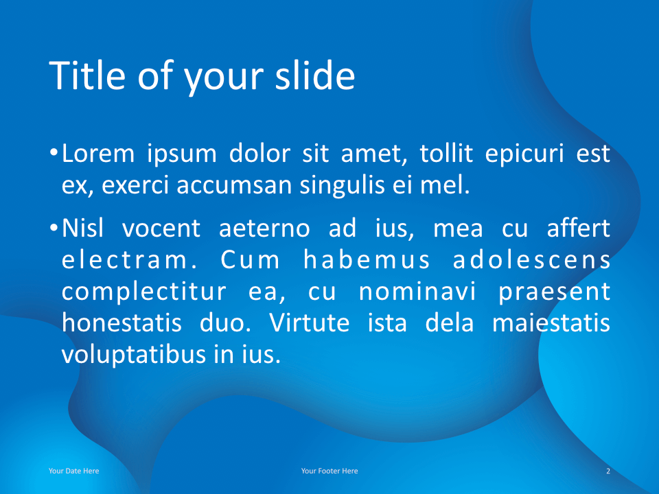 Fluids Keynote Template Blue Title Content
