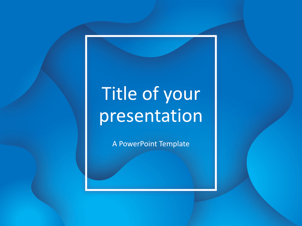 Fluids Keynote Template Blue