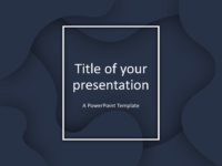 Fluids Keynote Template Dark Blue