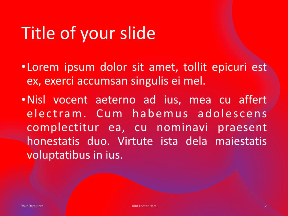 Fluids Keynote Template Pink Purple Title Content