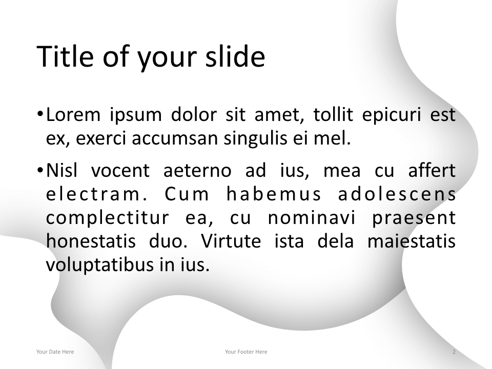 Fluids Keynote Template White Title Content