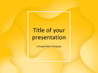 Fluids Keynote Template Yellow