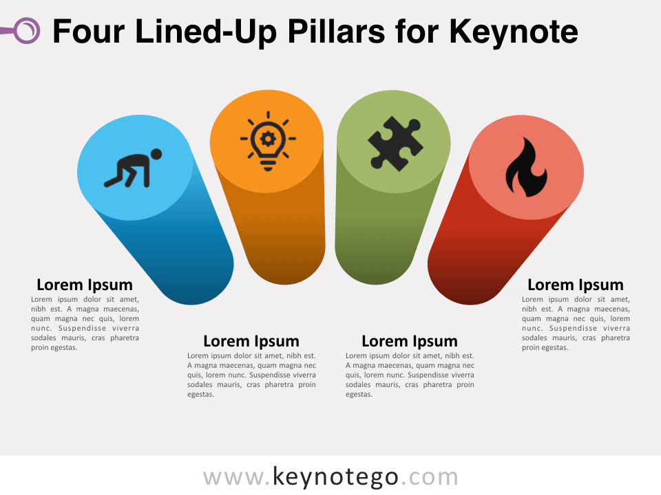 Four Lined-Up Pillars for Keynote