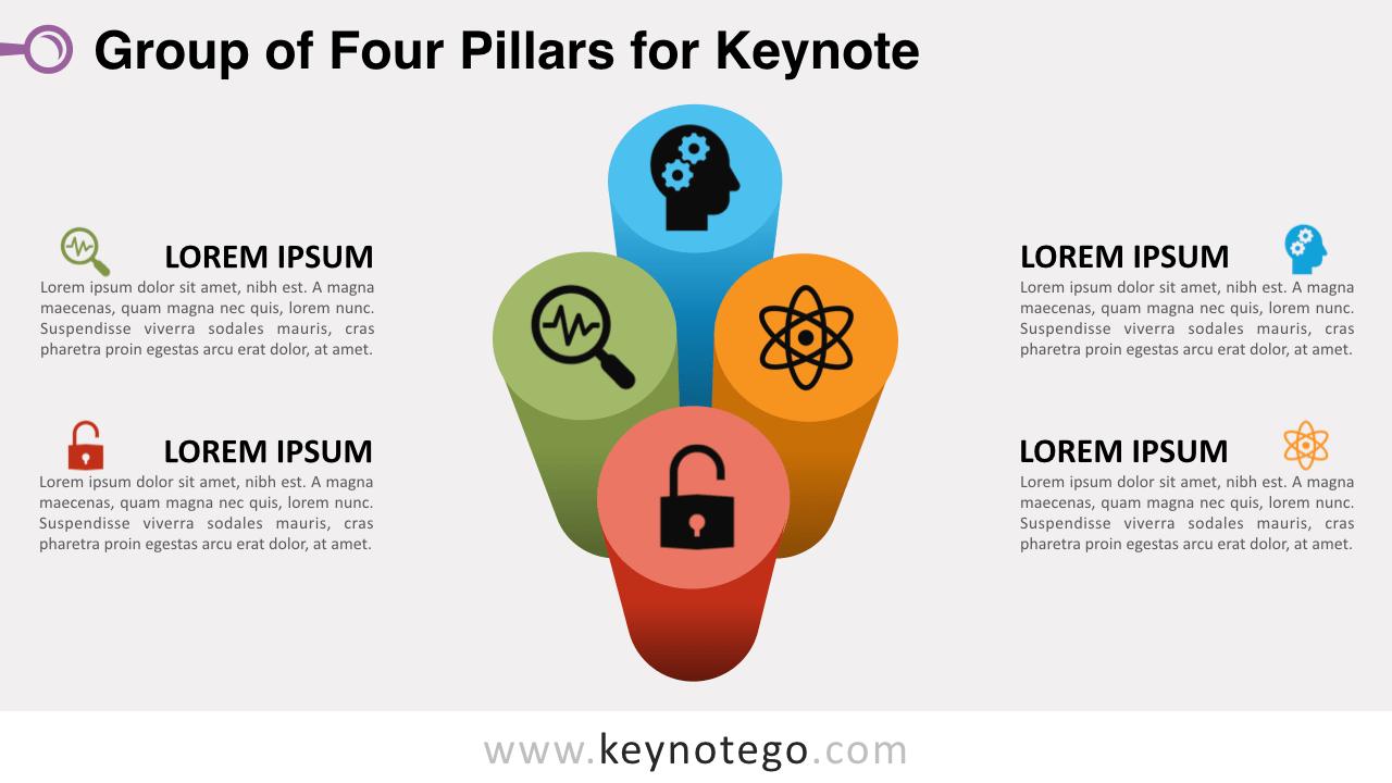 Group 4 Pillars Keynote Template
