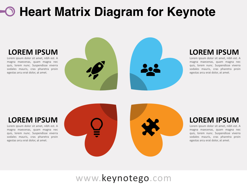 Heart Matrix Diagram for Keynote