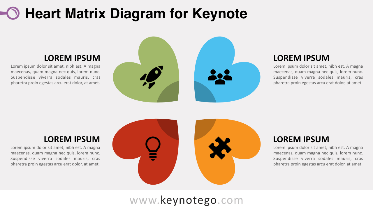 Heart Matrix Keynote Template