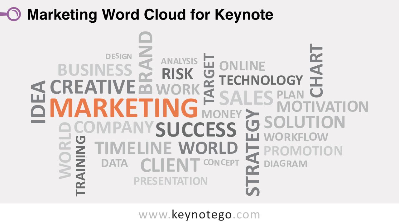 Marketing Word Tag Cloud Keynote Template