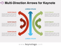 Multi-Direction Arrows for Keynote