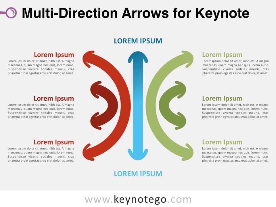 Multi-Direction Arrows for Keynote