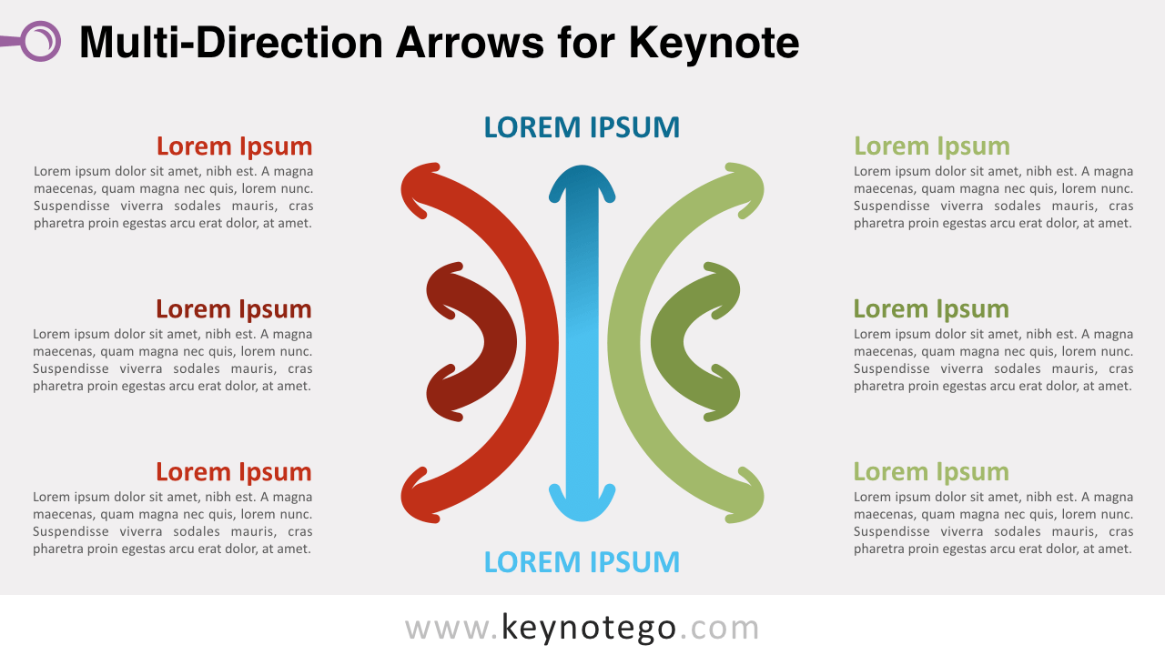 Multidirection Arrows Keynote Template