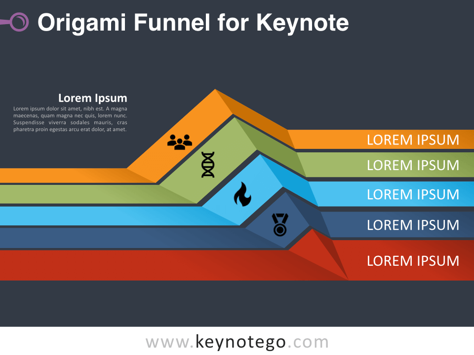 Origami Funnel for Keynote - Dark Background