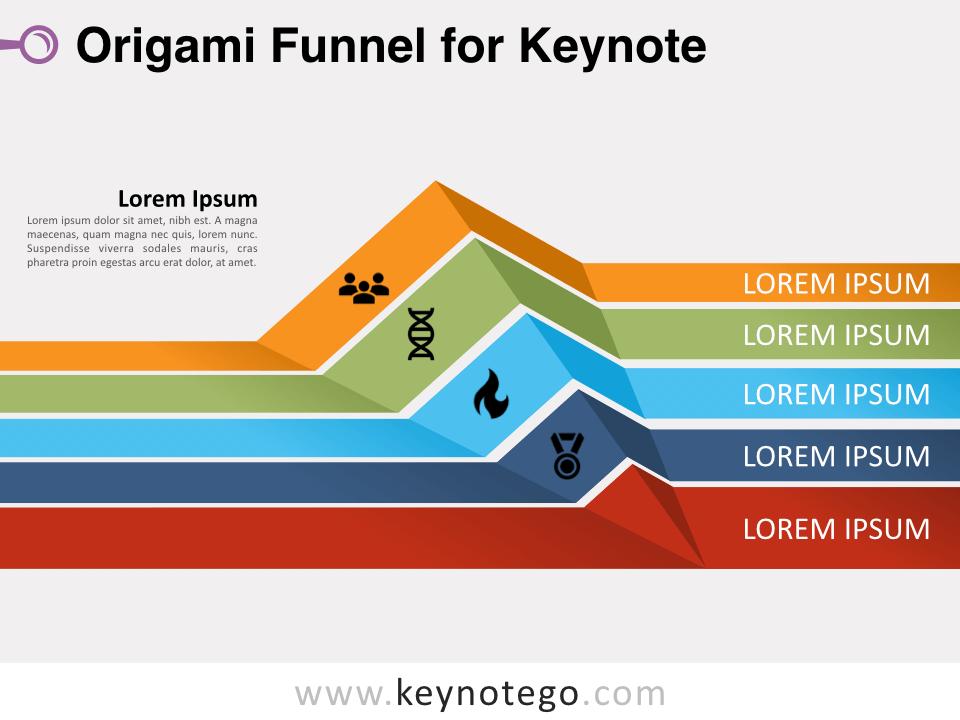 Origami Funnel for Keynote
