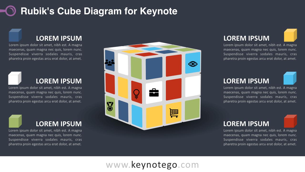 Rubiks Cube Keynote Template - Dark Background