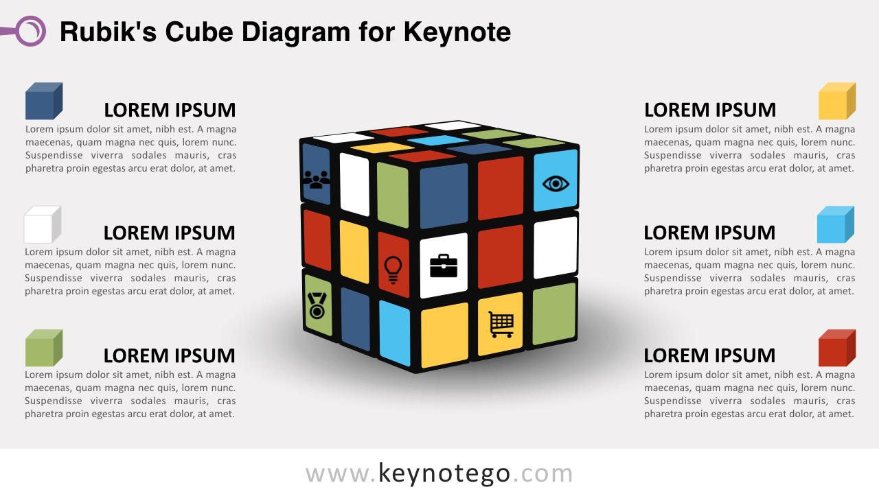 Rubiks Cube Keynote Template