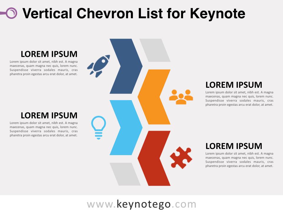 Vertical Chevron List for Keynote