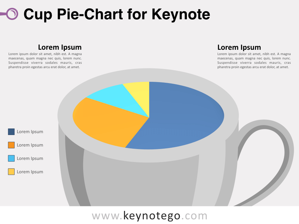 Cup Pie Chart for Keynote