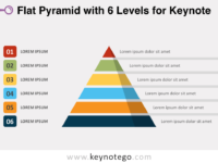 Flat Pyramid 6 Levels for Keynote