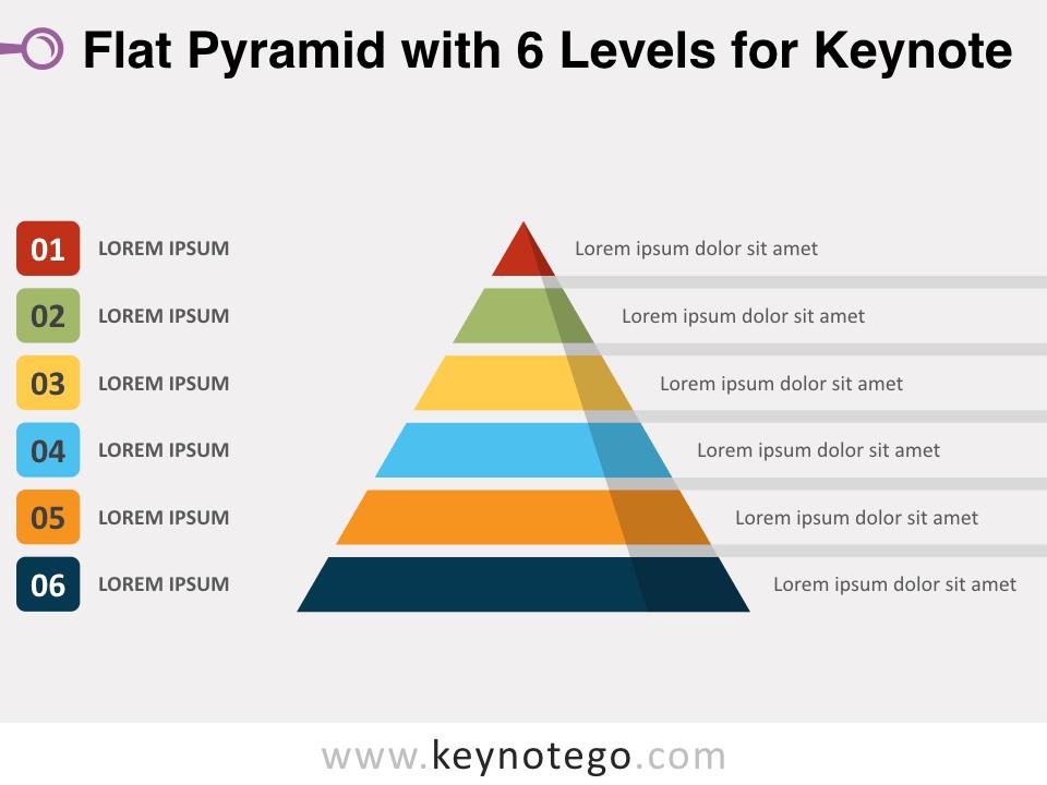 Flat Pyramid 6 Levels for Keynote