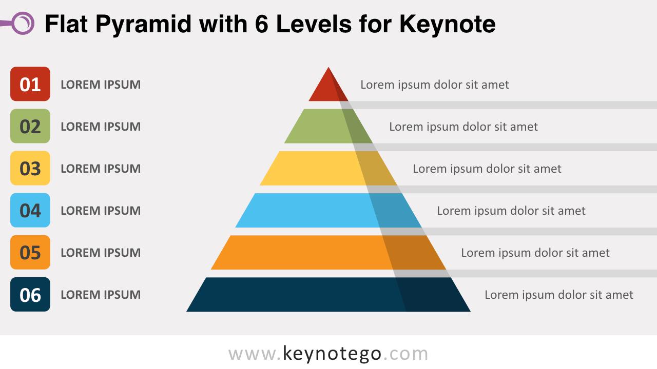 Flat Pyramid 6 Levels Keynote Template