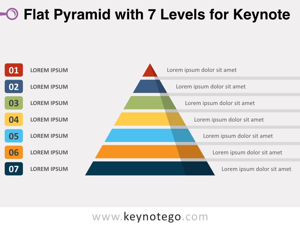 Flat Pyramid 7 Levels for Keynote