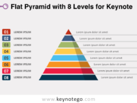 Flat Pyramid 8 Levels for Keynote
