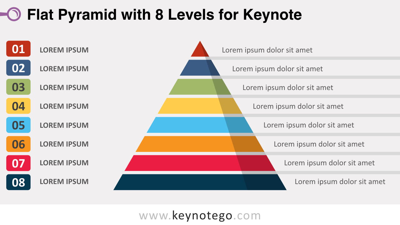 Flat Pyramid 8 Levels Keynote Template