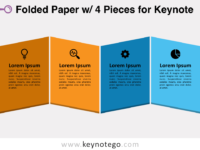 Folded Paper 4 Pieces for Keynote