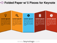 Folded Paper 5 Pieces for Keynote