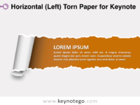 Horizontal Left Torn Paper for Keynote