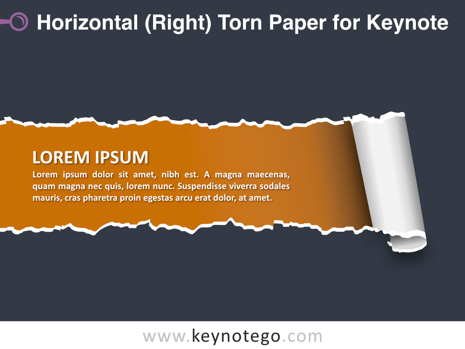 Horizontal Torn Paper for Keynote - Dark Background