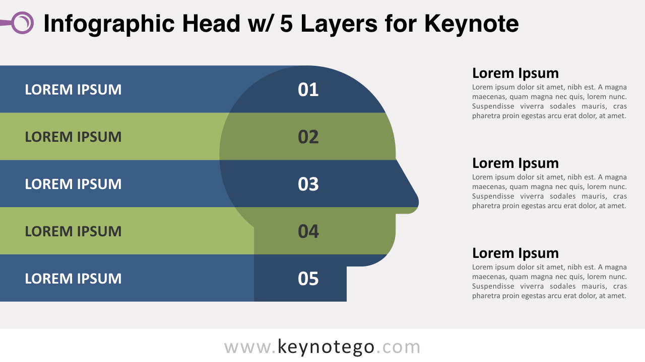 Infographic Head 5 Layers Keynote Template