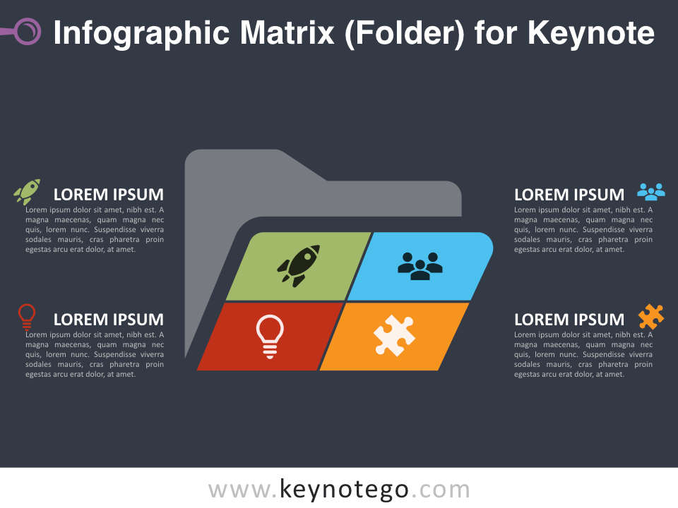 Infographic Matrix Folder for Keynote - Dark Background
